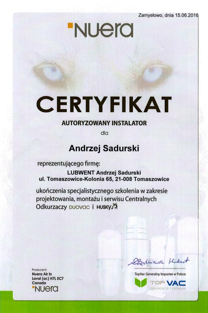 certyfikat odk